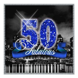 """La ciudad enciende cincuenta fabulosos invitación 5.25"""" x 5.25"""""""