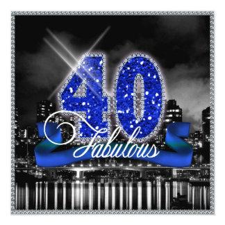 La ciudad enciende cuarenta fabulosos invitación 13,3 cm x 13,3cm