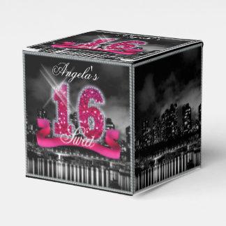 La ciudad enciende el dulce dieciséis paquete de regalo para fiestas