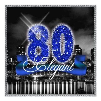 La ciudad enciende ochenta elegantes invitación 13,3 cm x 13,3cm