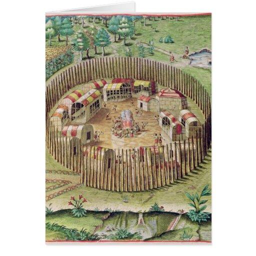 La ciudad fortificada de Pomeiooc Felicitaciones