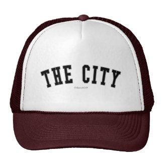 La ciudad gorras