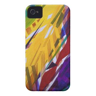 La ciudad II - corrientes abstractas del arco iris Funda Para iPhone 4 De Case-Mate