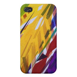 La ciudad II - corrientes abstractas del arco iris iPhone 4/4S Carcasas
