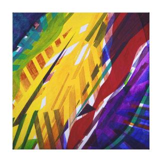 La ciudad II - corrientes abstractas del arco iris Lienzo Envuelto Para Galerías