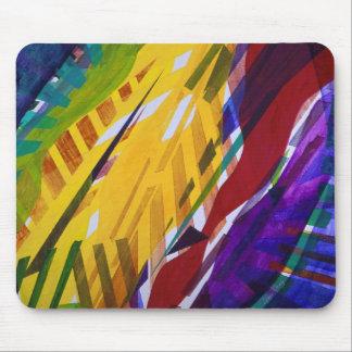 La ciudad II - corrientes abstractas del arco iris Tapete De Raton