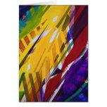 La ciudad II - corrientes abstractas del arco iris Felicitacion