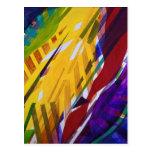La ciudad II - corrientes abstractas del arco iris Postal