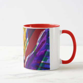 La ciudad II - corrientes abstractas del arco iris Taza