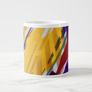 La ciudad II - corrientes abstractas del arco iris Taza De Café Gigante