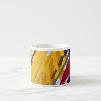 La ciudad II - corrientes abstractas del arco iris Taza De Espresso