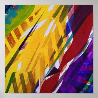 La ciudad II - el arco iris abstracto fluye el pos Impresiones