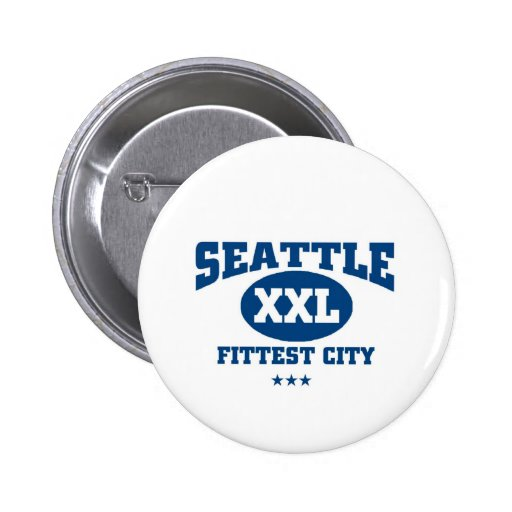 La ciudad más apta de Seattle Pin Redondo 5 Cm
