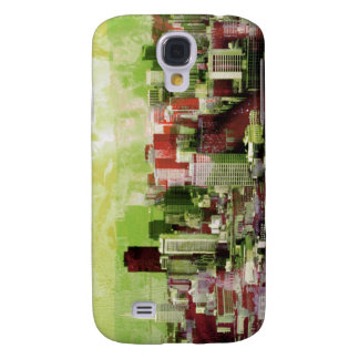 La ciudad oxidada de San Francisco (verde) Carcasa Para Galaxy S4