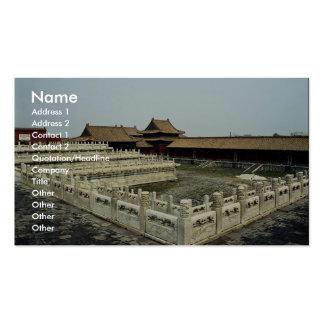 La ciudad Prohibida, Pekín, China Tarjetas De Visita