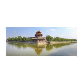 la ciudad Prohibida torrecilla Pekín Impresión De Lienzo