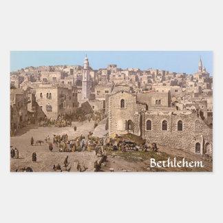 La ciudad santa de Belén Pegatina Rectangular