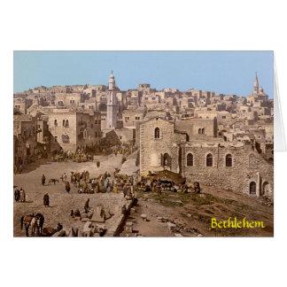 La ciudad santa de Belén Tarjeta De Felicitación
