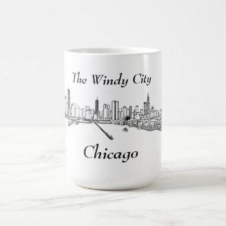 La ciudad ventosa Chicago Taza
