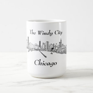 La ciudad ventosa Chicago Taza Básica Blanca