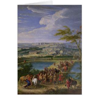La ciudad y el castillo francés tarjeta de felicitación