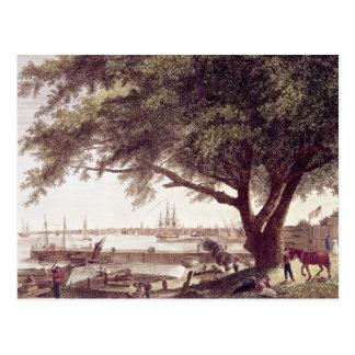 La ciudad y el puerto de Philadelphia, de Postales