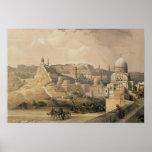 """La ciudadela de El Cairo, de """"Egipto y de Nubia """" Poster"""