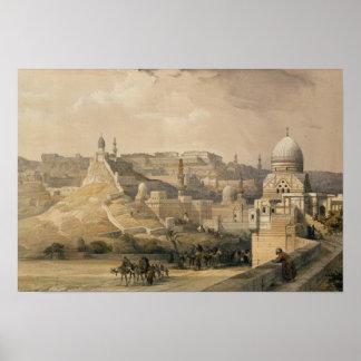 """La ciudadela de El Cairo, de """"Egipto y de Nubia """" Póster"""