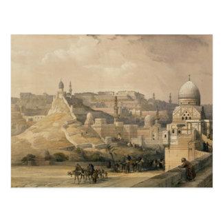 """La ciudadela de El Cairo, de """"Egipto y de Nubia """" Tarjeta Postal"""