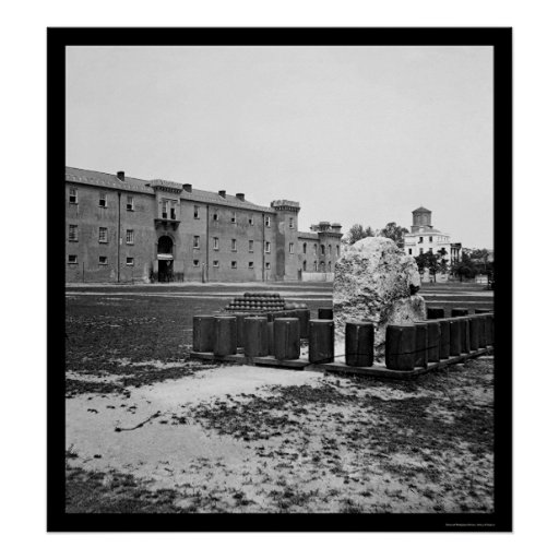 La ciudadela en Charleston, SC 1865 Posters