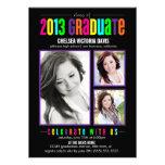 La clase colorida de la foto graduada 2013 invita invitaciones personales