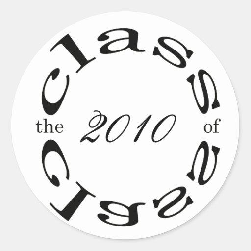 la clase de 2010 pegatina redonda