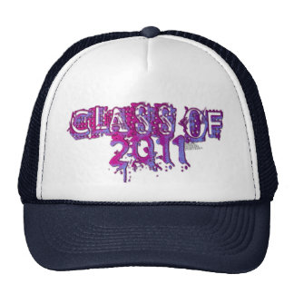 La clase de 2011 rasgó el logotipo púrpura de la t gorras