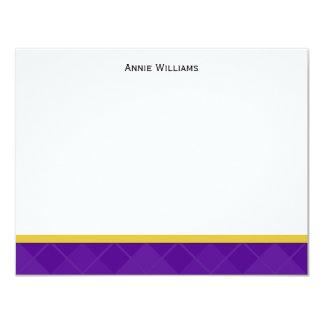 """La clase de 2012 púrpuras y la graduación del oro invitación 4.25"""" x 5.5"""""""