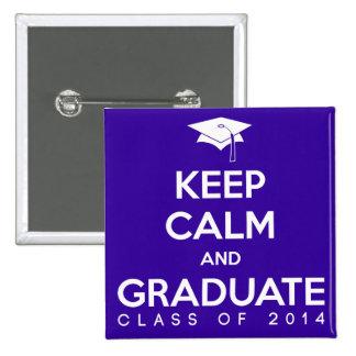 La clase de 2014 guarda calma y gradúa pins