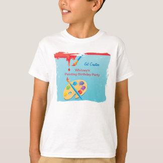 La clase de arte embroma la camiseta