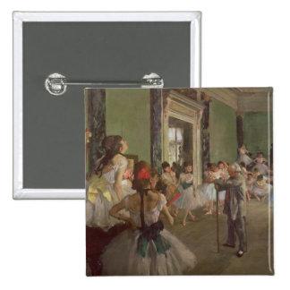 La clase de baile, c.1873-76 pin cuadrada 5 cm