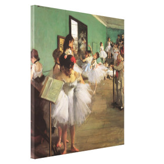 La clase de danza cerca desgasifica, ballet del impresión en lienzo estirada