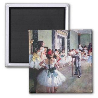 La clase de danza de Edgar Degas, arte del ballet Imán Cuadrado