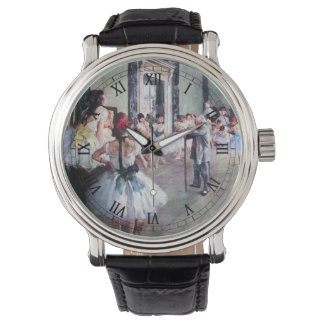 La clase de danza de Edgar Degas, arte del ballet Reloj