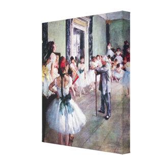 La clase de danza de Edgar Degas, ballet del Impresion De Lienzo