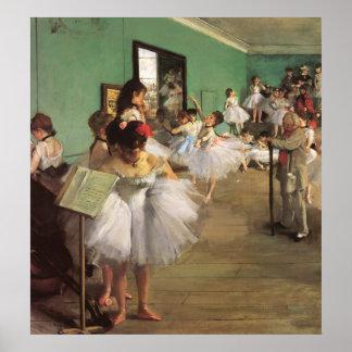 La clase de danza del ballet del impresionismo del póster