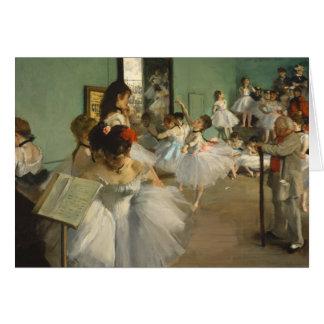 La clase de danza. Edgar Degas Tarjeta