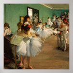 La clase de danza el | Edgar Degas Póster