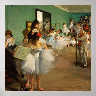 La clase de danza el   Edgar Degas Póster