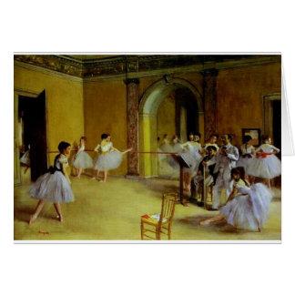 La clase de danza en la ópera cerca desgasifica tarjeta de felicitación