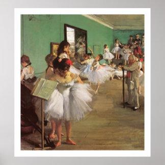 La clase de danza - la pintura del ballet cerca de poster