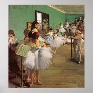 La clase de danza - pintura del ballet del vintage póster