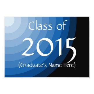 """La clase de graduación de 2015 azules invita por invitación 5"""" x 7"""""""