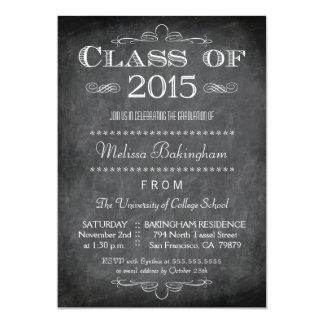 """La clase de la fiesta de graduación 2015 de la invitación 5"""" x 7"""""""